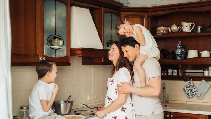 Ilustrasi keluarga harmonis. /pexels