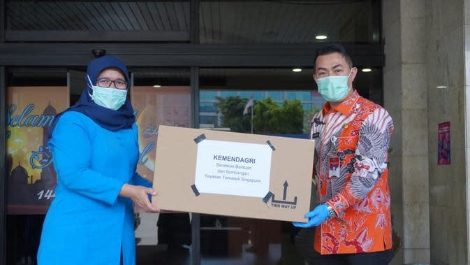 RS Harapan Kita dan Dharmais Terima Bantuan dari Temasek Singapura Melalui Kemendagri