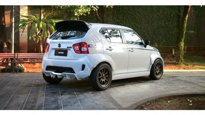 Tampilan Suzuki Ignis garapan modifikator Garasi Drift