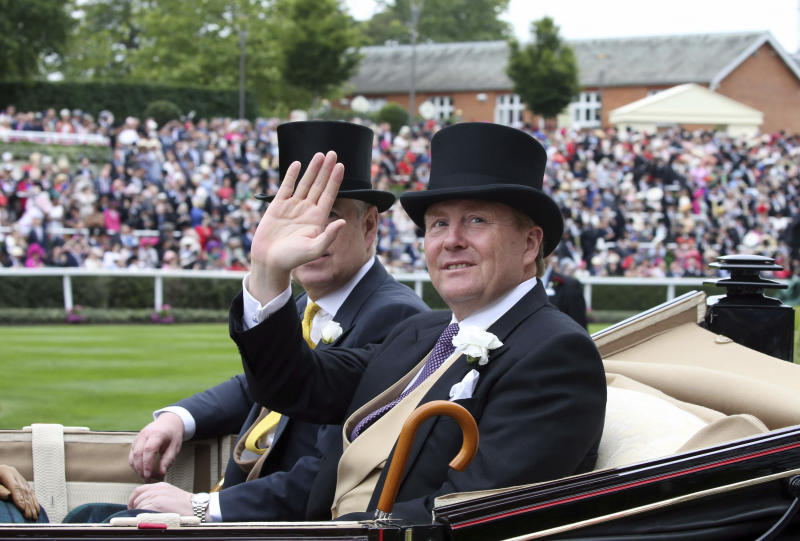 Photo by: KGC-22/STAR MAX/IPx 2019 6/18/19 Prince Andrew The Duke of York and King Willem-Alexander of The Netherlands at Royal Ascot Day One at Ascot Racecourse. (Ascot, Berkshire, England, UK)