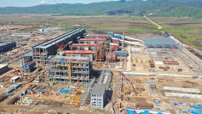 Kawasan mega industri Morosi di Konawe, Sultra yang saat ini masih dalam tahap pembangunan. (Ist)