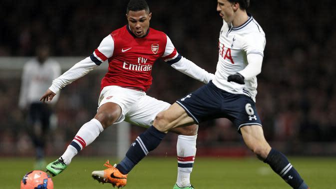 Serge Gnabry ketika masih membela Arsenal. (AFP/Adrian Dennis)