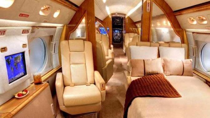 Pesawat pribadi milik Lionel Messi (Marca)