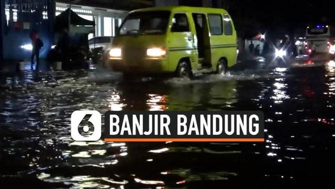 VIDEO: Hujan 1 Jam Kota Bandung Tergenang Banjir