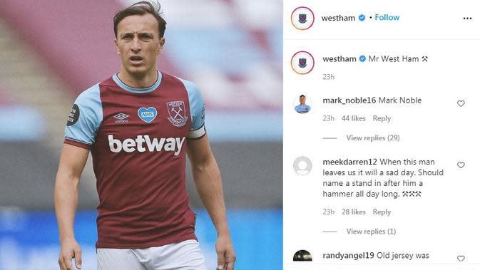 Seragam West Ham. (Instagram)