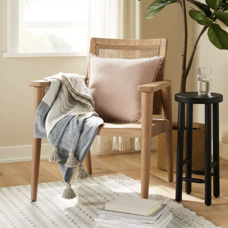 Wood & Cane Accent Chair (Credit: Target)