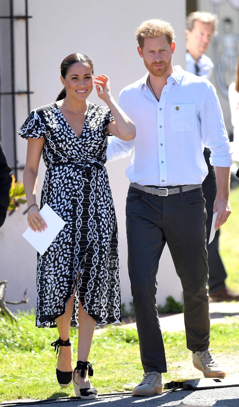 Prince Harry, Duke of Sussex and Meghan, Duchess of Sussex n Cape Town, South Africa