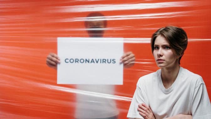 COVID-19 pengaruhi retina. ilustrasi coronavirus/pexels