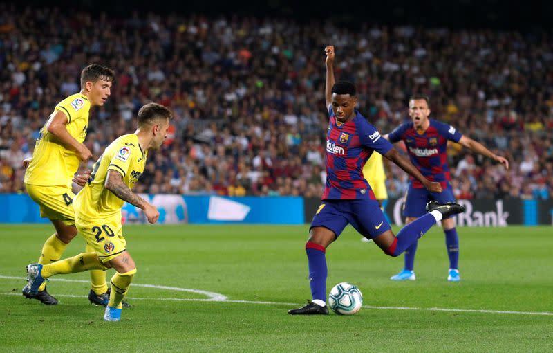 Barca reward teenage forward Fati with new contract