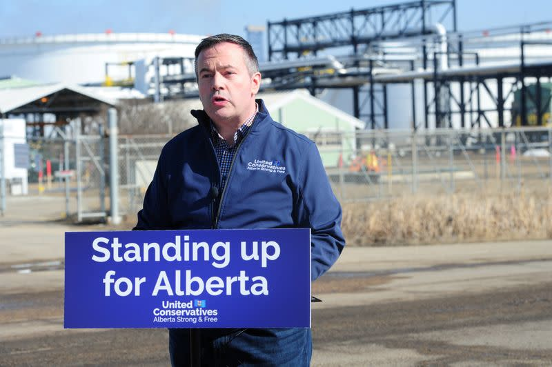 Canadian province Alberta to study forming own pension plan, police force