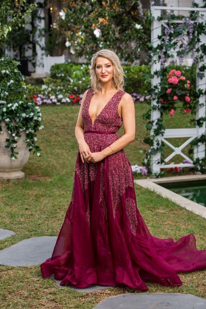 Hannah Chapman in gown on The Bachelor