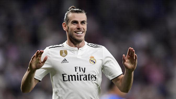 Gareth Bale (100 juta euro) - Pemain asal Wales ini didatangkan Real Madrid dengan harga 100 juta dari Tottenham Hotspur pada musim panas 2013. Real Madrid menjadikan Bale sebagai pemain termahal di dunia pada saat itu. (AFP/Javier Soriano)