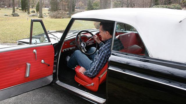 On March 12, 2008, Mitt Romney got a classic car as a birthday gift