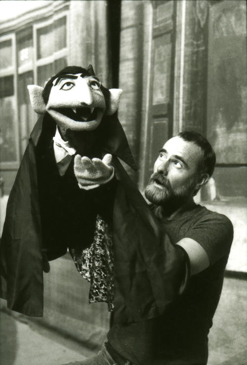 """In this undated publicity photo released by """"Sesame Street,"""" puppeteer Jerry Nelson performs as Count von Count for PBS' """"Sesame Street"""" in New York. Sesame Workshop announced that Nelson, who suffered from emphysema, died at age 78 on Thursday, Aug. 23, 2012, in his Massachusetts home on Cape Cod. (AP Photo/Sesame Workshop, Nancy Moran)"""