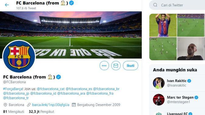 Tangkapan Layar akun Twiiter Barcelona (Bola.com/@FCBarcelona