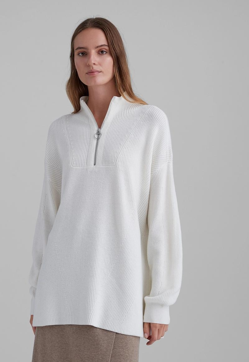 Quarter Zip Pullover Sweater. Image via Club Monaco.