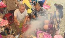 花蓮慶中秋 舊東里車站前千人烤肉