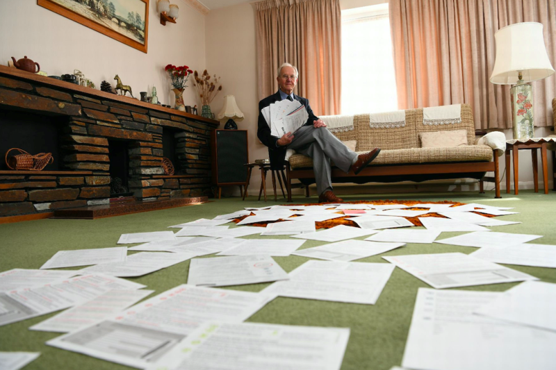 Mr Cheesbrough said the monthly letters were 'intimidating' (SWNS)