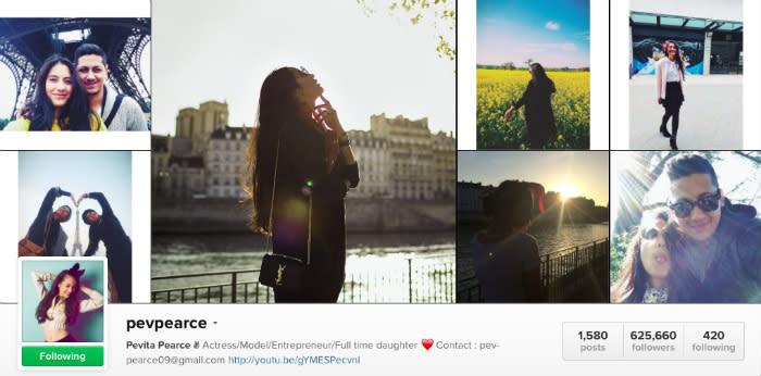 pevita pearce instagram