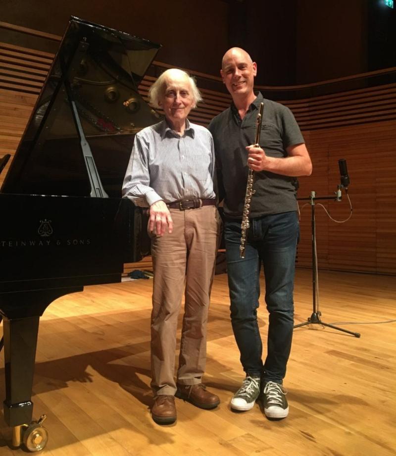 OliverDavies with the flautist James Dutton