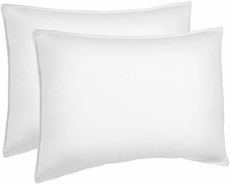 AmazonBasics Down Alternative Bed Pillows set of two.