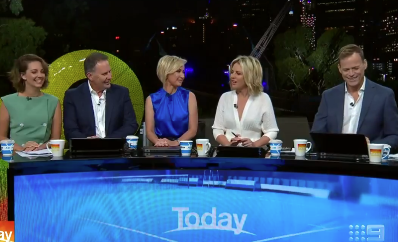 The Today show started this year off with a new-look panel. Photo: Channel Nine