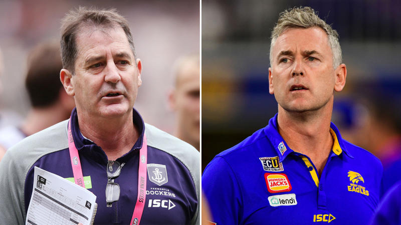 Ross Lyon (pictured left) and Adam Simpson (pictured right). (Getty Images)