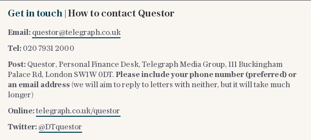 Get in touch | How to contact Questor