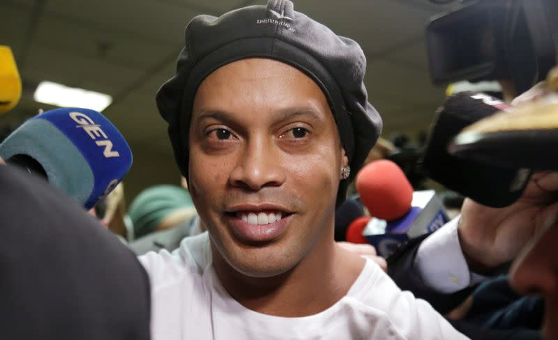 Ronaldinho adapting to jail with usual smile, prison warden says