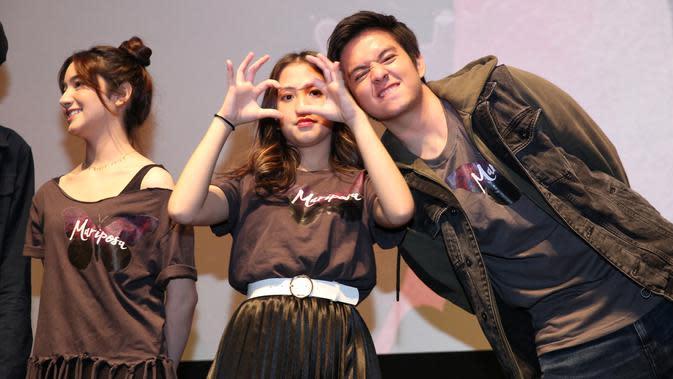 Angga Yunanda dan Adhisty Zara Kembali Dipertemukan di Film Mariposa (Adrian Putra/Fimela.com)