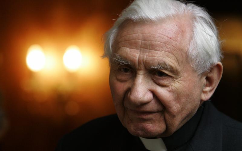 Ratzinger at his home in Regensburg, 2005 - TOBIAS SCHWARZ/Reuters