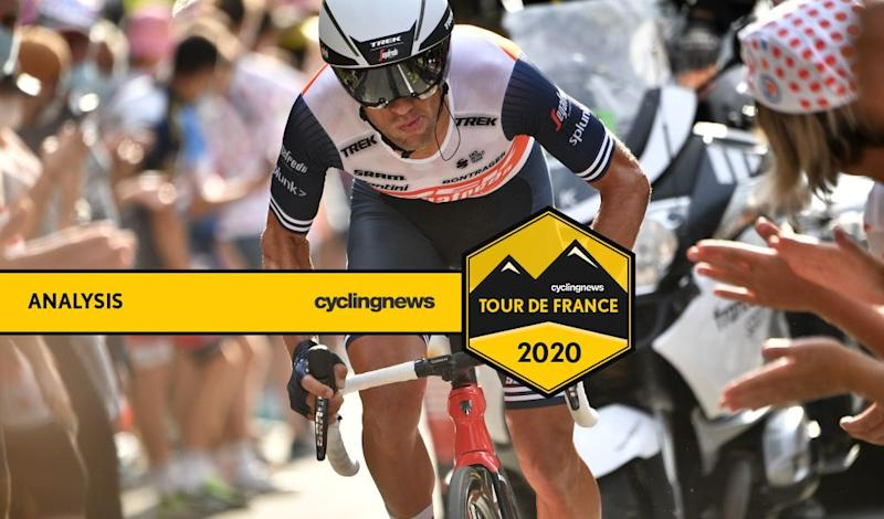 Australian climber Richie Porte (Trek-Segafredo) time trials to third place overall on stage 20 of the 2020 Tour de France