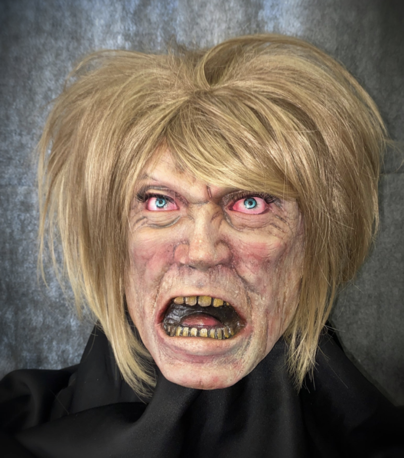 """This """"Karen"""" Halloween mask is selling fast on Etsy. (Photo: Etsy/Kamoras Costumes)"""