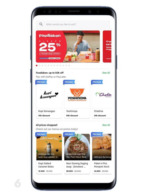 Tampilan Aplikasi Gofood. Liputan6.com/Mochamad Wahyu Hidayat
