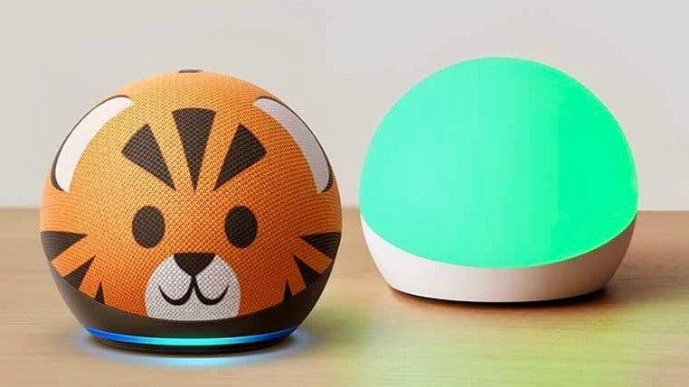 Image of Echo Dot 4th gen with Echo Glow