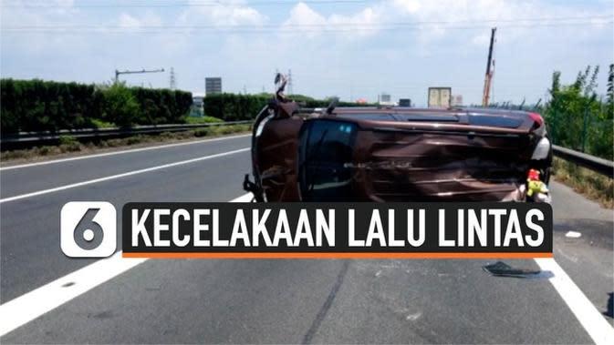 VIDEO: Rekaman Dari Dalam Mobil Berisi Satu Keluarga yang Terbalik karena Kecelakaan di Tol China