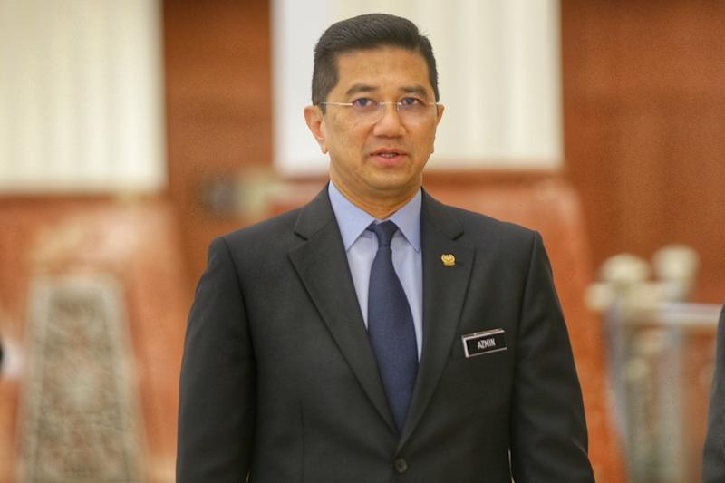 Economic Affairs Minister Datuk Seri Azmin Ali is pictured at the Parliament lobby October 15,2019. — Picture by Ahmad Zamzahuri