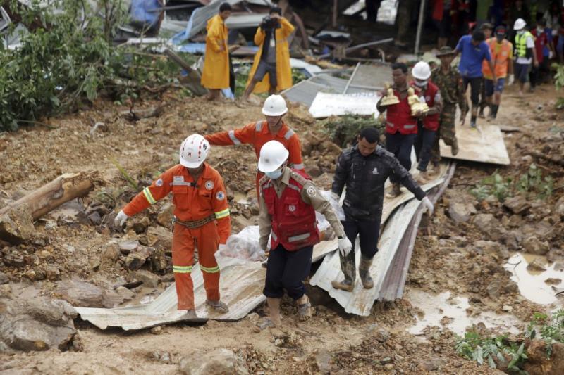 Tanah longsor di Myanmar Tenggara tewaskan sedikitnya 34 orang
