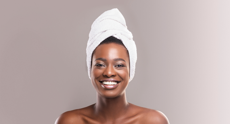 The Evolatree Super Absorbent Anti-Frizz Microfiber Hair Towel is on sale right now for jut $15 (Getty Images)