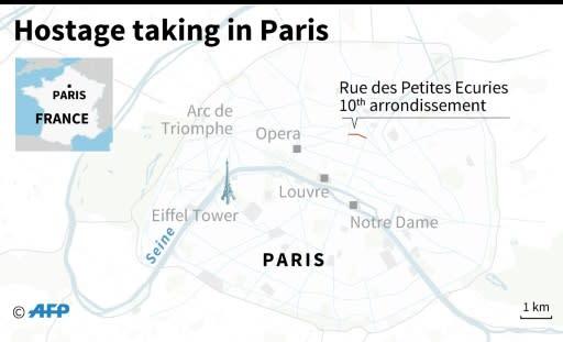 Map of Paris locating the Rue des Petites Ecuries in the 10th arrondissement