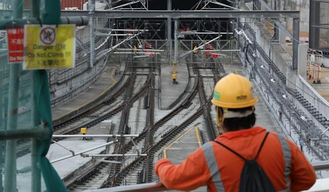 A view of the Sha Tin to Central rail link at Hung Hom station. Photo: Nora Tam