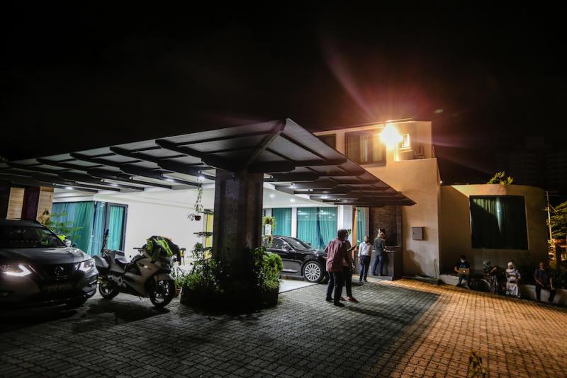 General view outside Datuk Seri Mohd Shafie Apdal House in Kota Kinabalu, Sabah September 26, 2020. — Picture by Firdaus Latif.