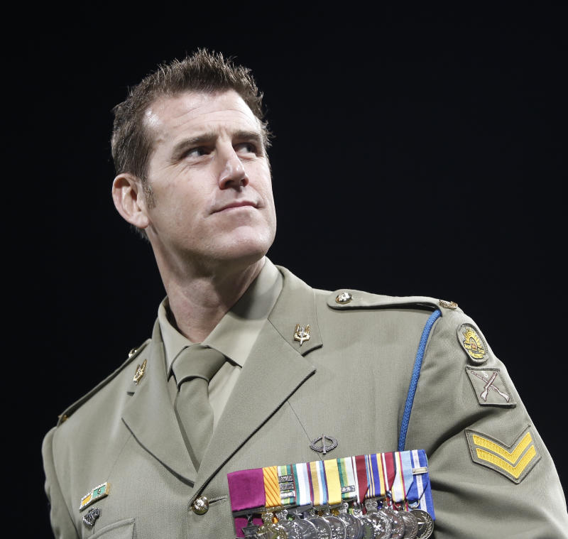 Pictured is Ben Roberts-Smith in uniform.