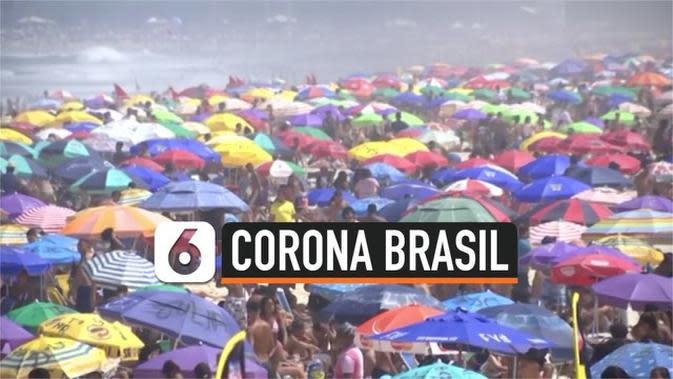 VIDEO: Pantai di Brasil Ramai Meski Kasus Corona Terus Meningkat