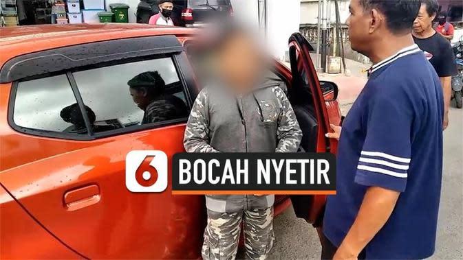 VIDEO: Bocah SD Nyetir Mobil Tabrak Pemotor