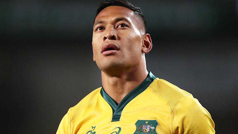 Israel Folau in action for the Wallabies. More