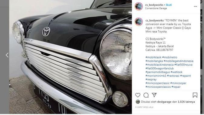 Modifikasi Keren Toyota Agya Disulap Jadi MINI Cooper