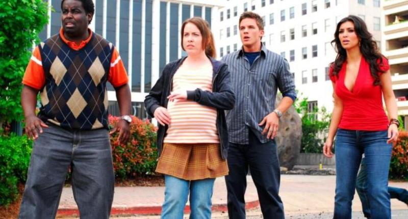 Matt Lanter and Kim Kardashian in Disaster Movie