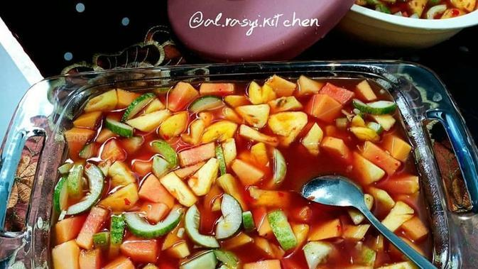 ilustrasi aneka resep rujak buah/Instagram: @guniezzt