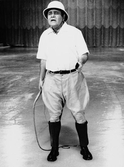 "FILE - This Sept. 22, 1967 file photo released by ABC shows comedian Jonathan Winters, hosting ""Holiday on Ice."" Winters, whose breakneck improvisations inspired Robin Williams, Jim Carrey and many others, died Thursday, April 11, 2013, at his Montecito, Calif., home of natural causes. He was 87.  (AP Photo/ABC-TV, file)"